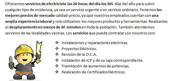 Equipo de Electricistas Valverde de la Virgen con revision de la instalacion